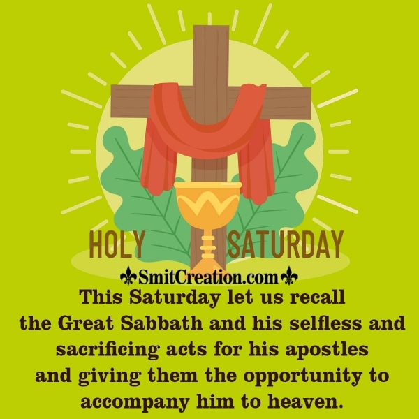 Holy Saturday Great Sabbath Message