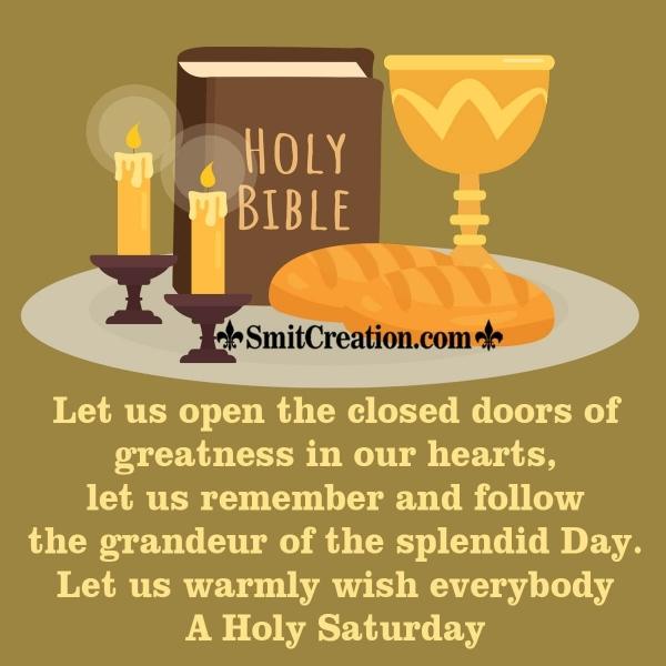 Holy Saturday Wish Image