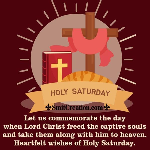 Heartfelt Wishes Of Holy Saturday.
