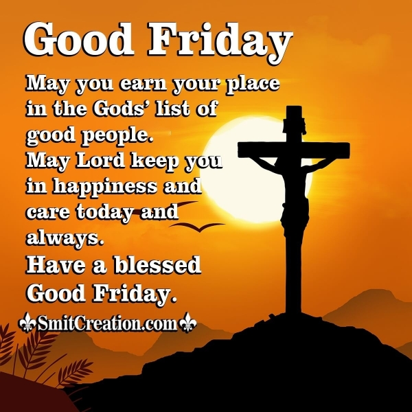Good Friday Wishes for Friends