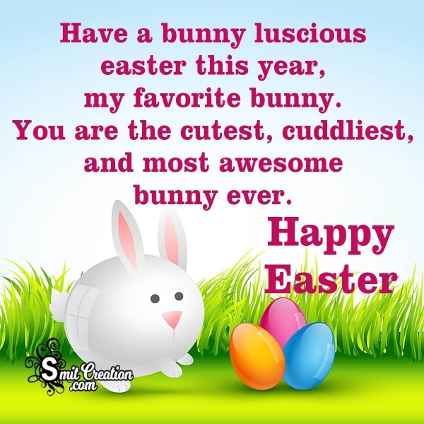 Happy Easter Bunny Wish Image