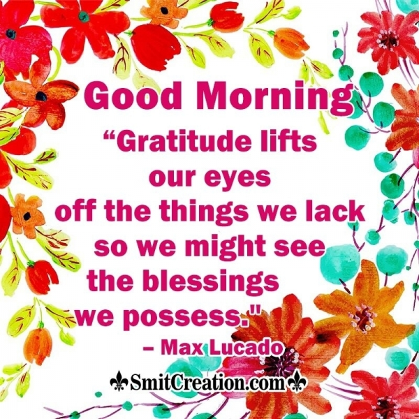 Good Morning Gratitude Quote