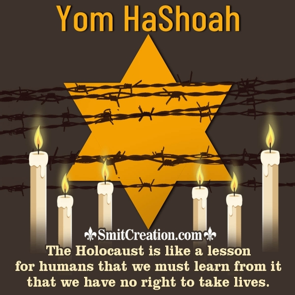 Yom Hashoah Message