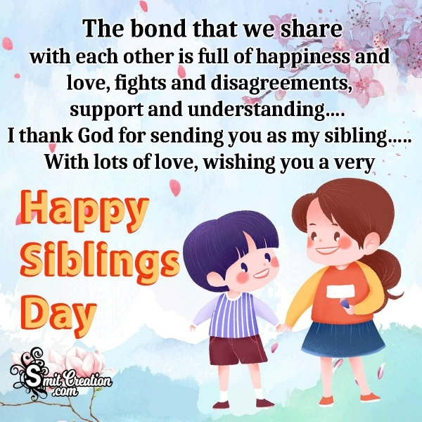 Wishing You A Very Happy Siblings Day