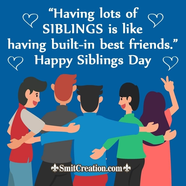 Happy Siblings Day Quotes