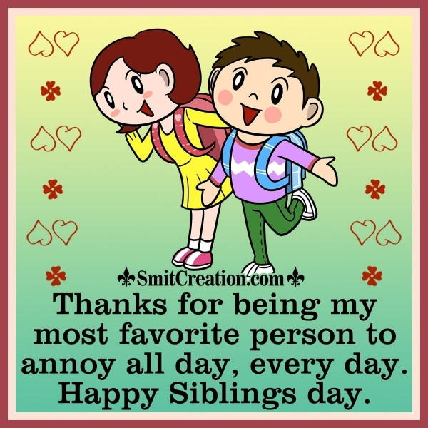 Happy Siblings Day Image