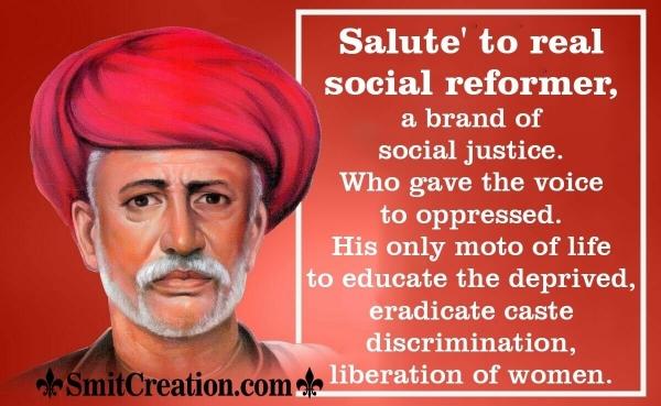 Salute To Mahatma Jyotiba Phule
