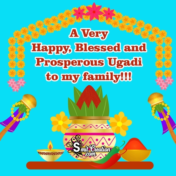 Happy Ugadi Image For Family