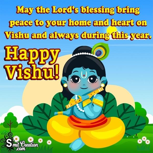 Happy Vishu Blessing Image