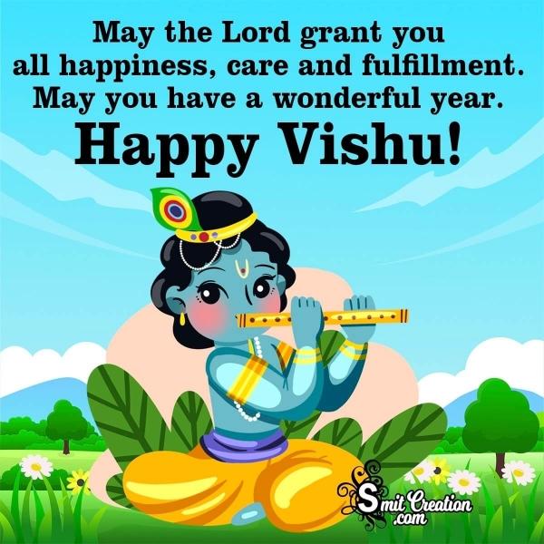 Happy Vishu Blessing Card