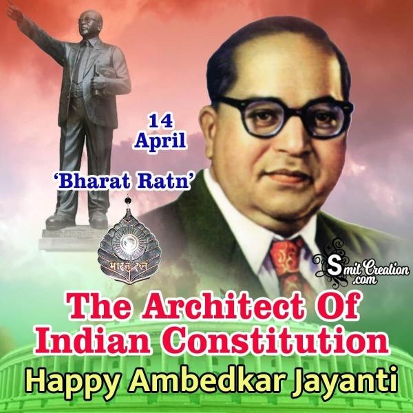 14 April Happy Ambedkar Jayanti Image