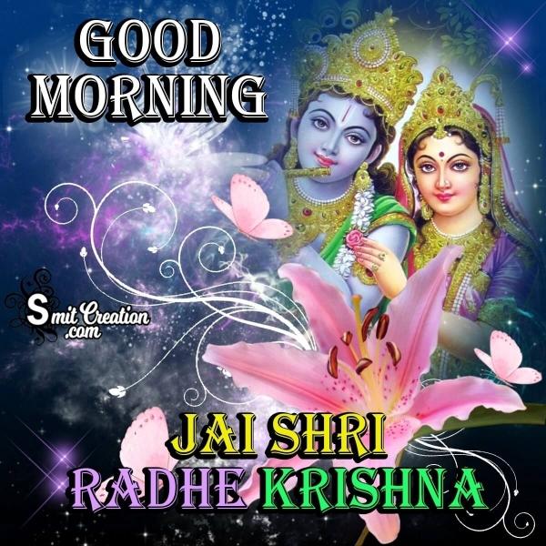 Good Morning Radha Krishna Pic
