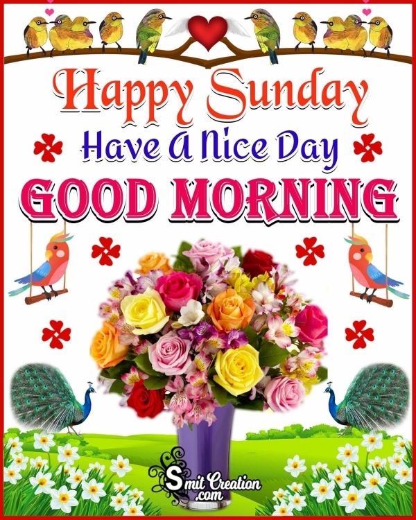 Happy Sunday Have A Nice Day Good Morning Image