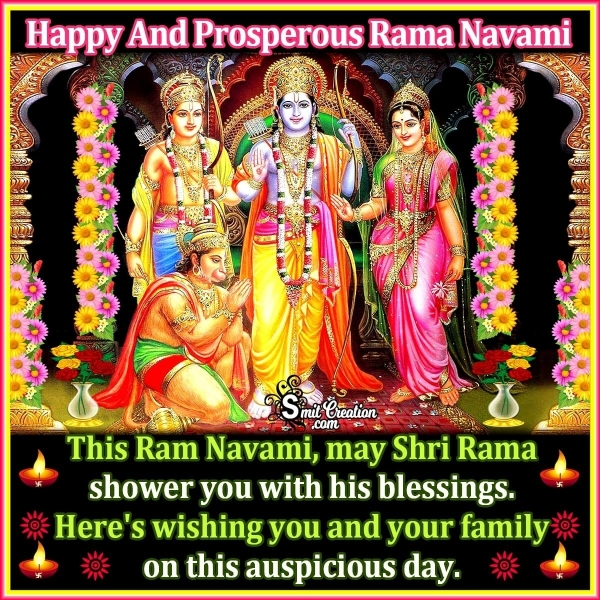 Happy And Prosperous Rama Navami