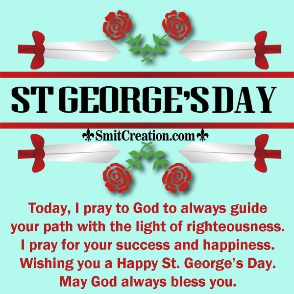 Happy St. George's Day Blessings Image