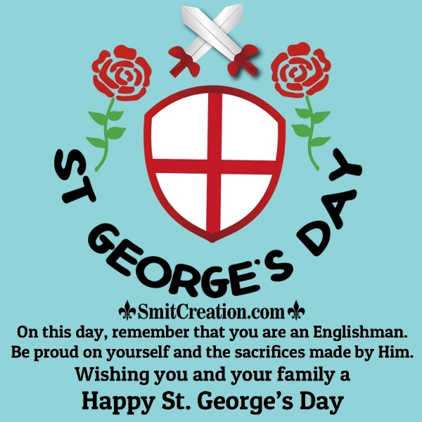 Happy St. George's Day Wish For Family