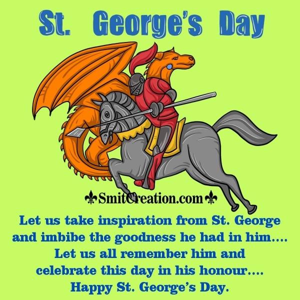 Happy St. George's Day Wish Image