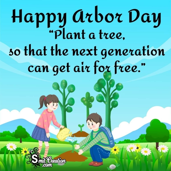 Happy Arbor Day Message