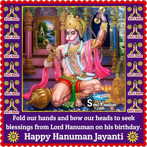 Happy Hanuman Jayanti Blessing Image