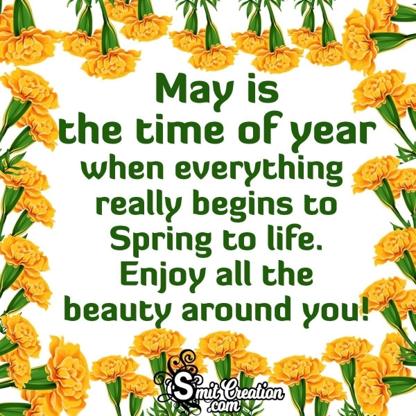 Enjoy The Beauty Of May