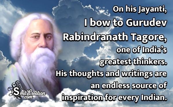 Rabindranath Tagore Jayanti Status