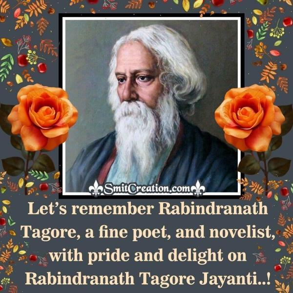 Rabindranath Tagore Jayanti Message