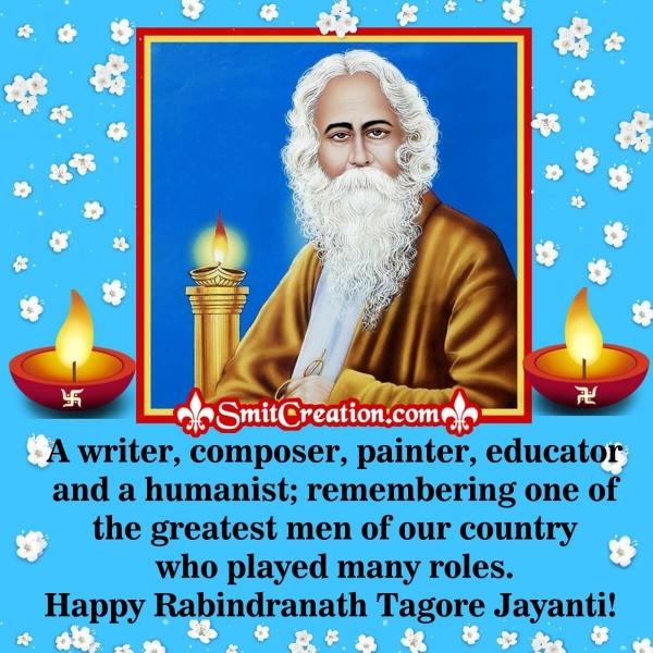 Happy Rabindranath Tagore Jayanti Message