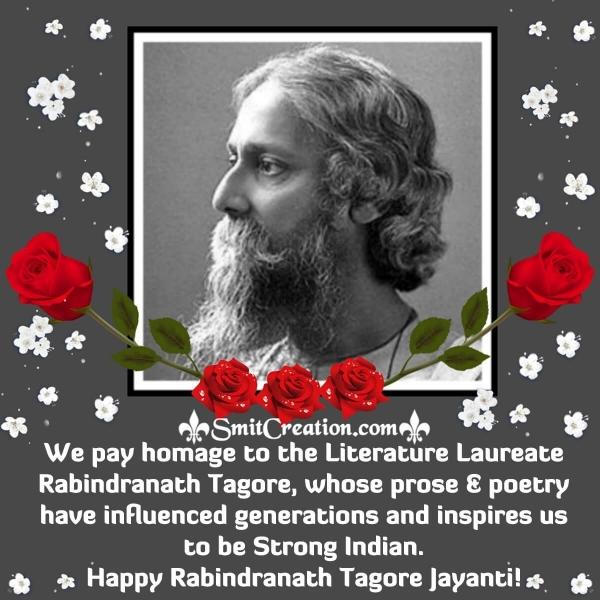 Rabindranath Tagore Jayanti English Status