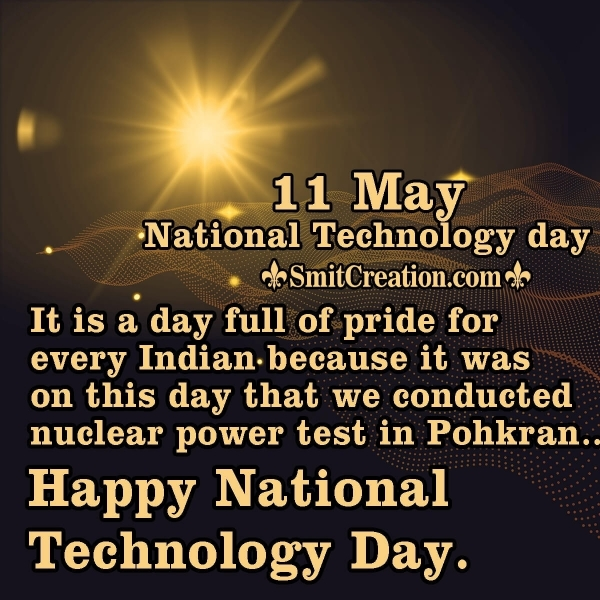 11 May National Technology Day Image