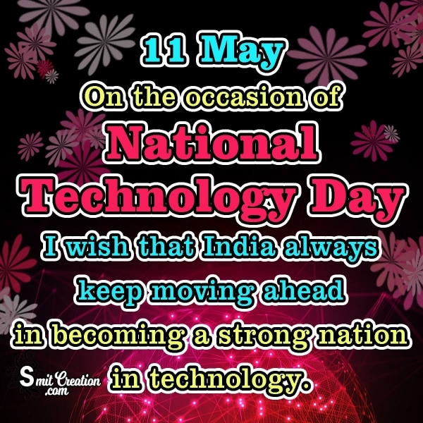 11 May National Technology Day Wishes