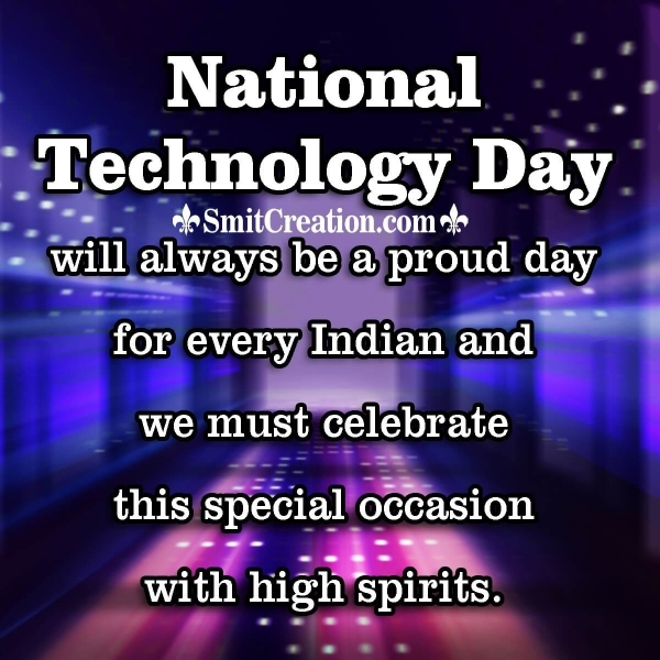 National Technology Day Image