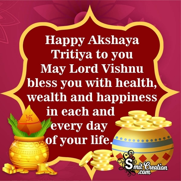 Happy Akshaya Tritiya Blessings Image