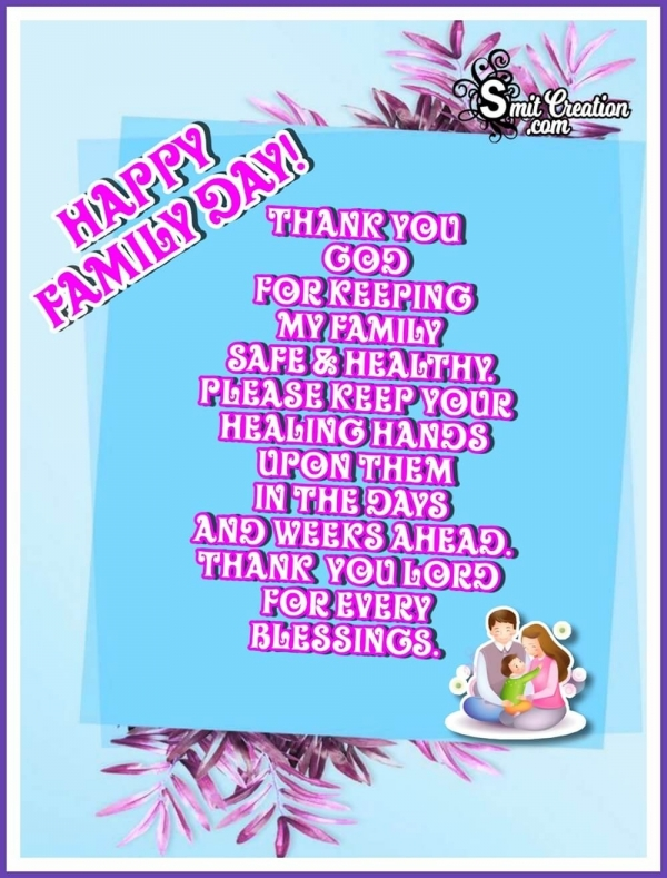 Happy Family Day Wish Image