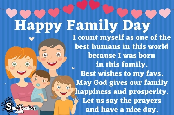 Best Wishes for Family Day