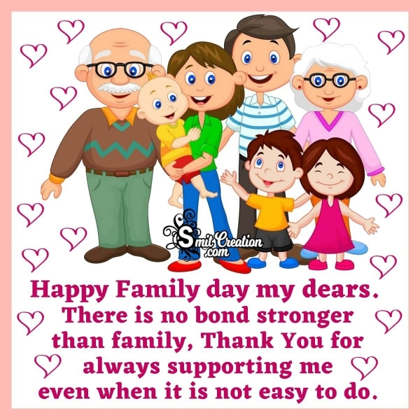 Family Day Wishes To Parents & Siblings