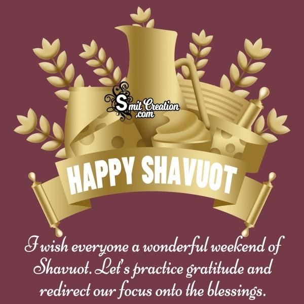 Happy Shavuot Wish Image