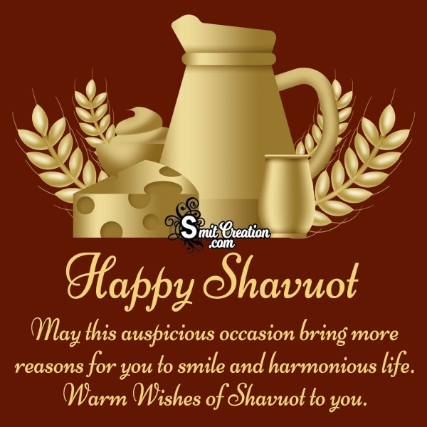 Warm Wishes Of Shavuot