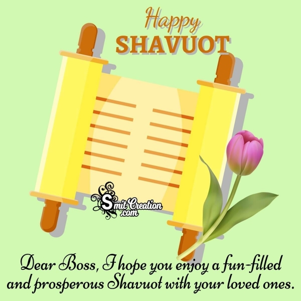 Shavuot Wishes for a Jewish Colleague or Boss