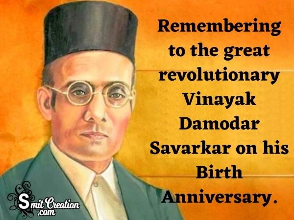 Vinayak Damodar Savarkar Birth Anniversary Image