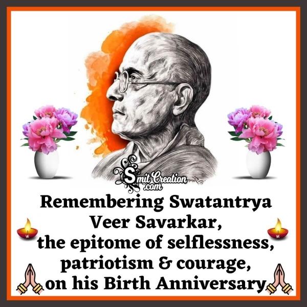 Swatantrya Veer Vinayak Savarkar Birth Anniversary Image