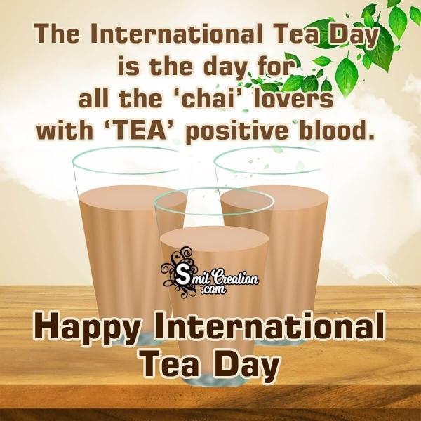 Happy International Tea Day Quote
