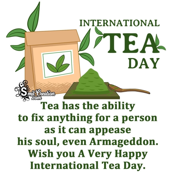 Happy International Tea Day Message Image