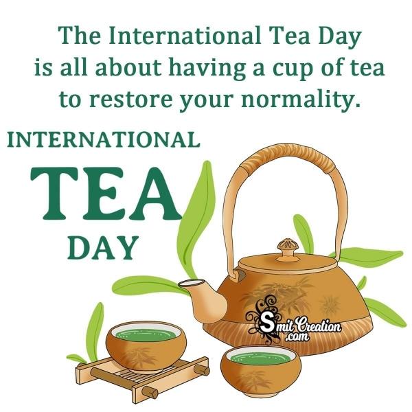 Happy International Tea Day Slogan