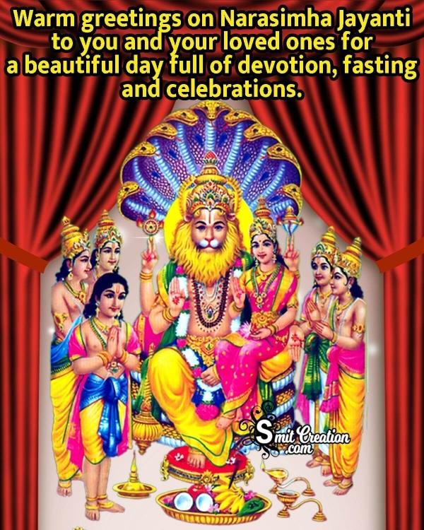 Warm Greetings On Narasimha Jayanti