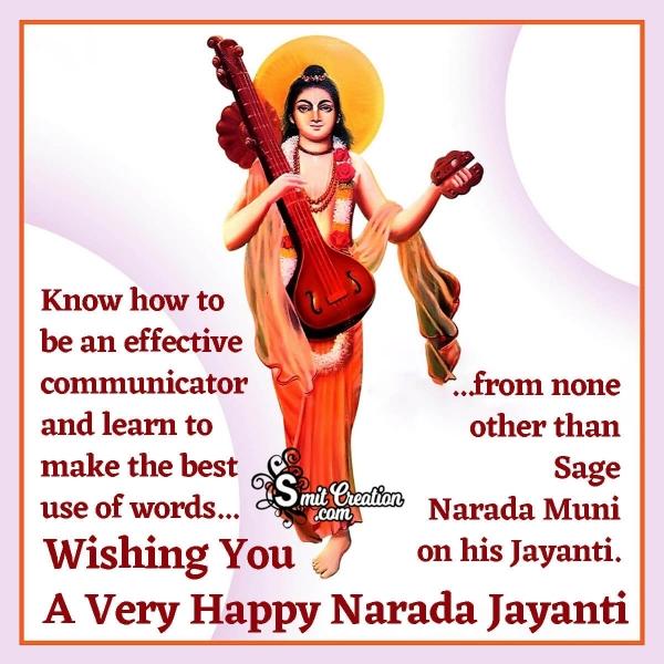 Wishing A Very Happy Narada Jayanti
