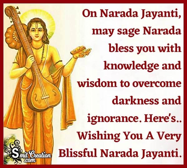 Happy Narada Jayanti Blessing Image