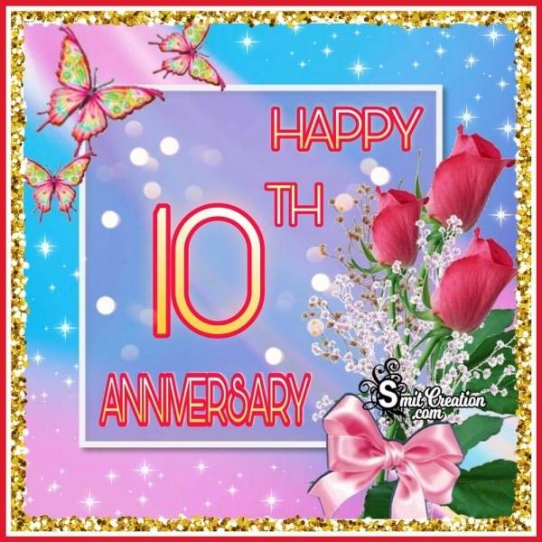 Happy 10th Anniversary Wish Image