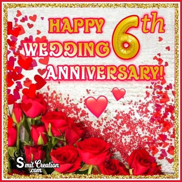Happy 6th Wedding Anniversary Wish Card
