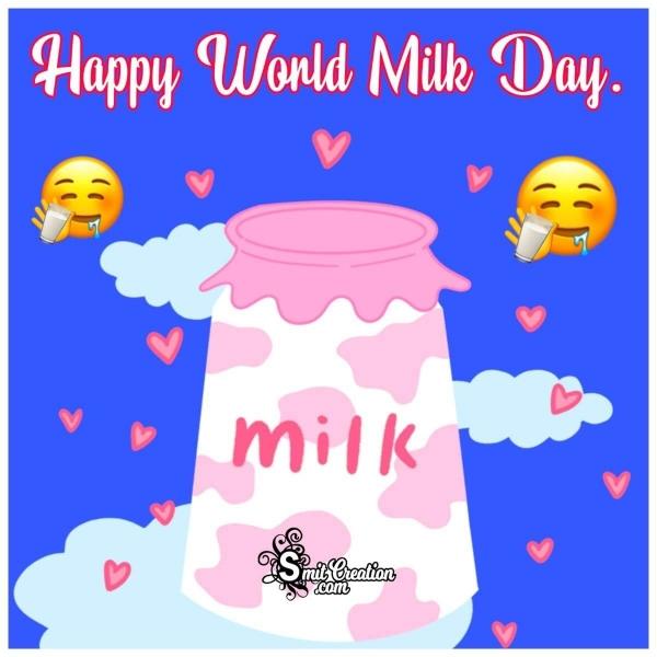 Happy World Milk Day wish Image