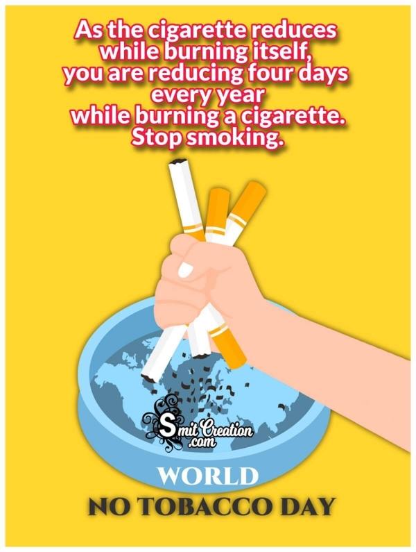 World No Tobacco Day Message Photo